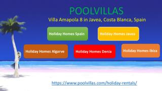 Villa Amapola 8 for 8 people in Javea, Costa Blanca, Spain