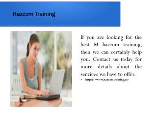 Hazcom Training