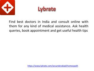 homeopathy Doctors in Secunderabad | Lybrate