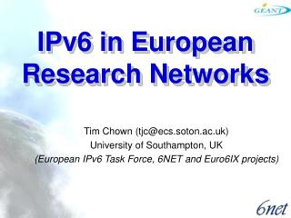 IPv6 in European Research Networks