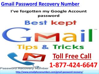Gmail Password Recovery Number Call at @1-877-424-6647 and Preterit Your Worries