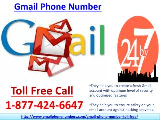 Ring @1-877-424-6647 Gmail Phone Number Anytime You Want