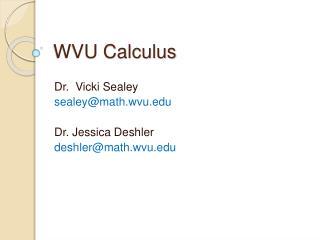 WVU Calculus