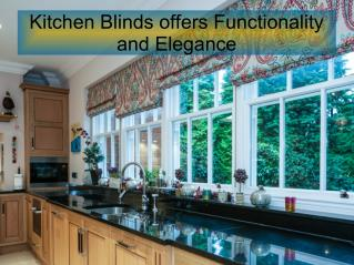 Kitchen Blinds offers Functionality and Elegance