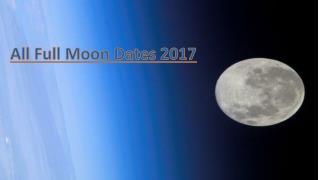 Next Full Moon Calendar