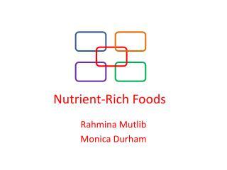 Nutrient-Rich Foods