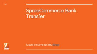 Bank Transfer Extension for Spree
