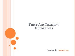 First Aid Training Guidelines