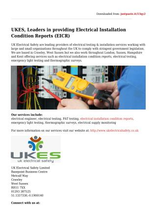Electrical Installation Condition Reports (EICR)