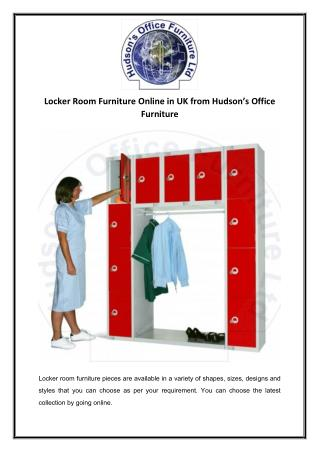 Locker Room Furniture Online in UK from Hudson's Office Furniture