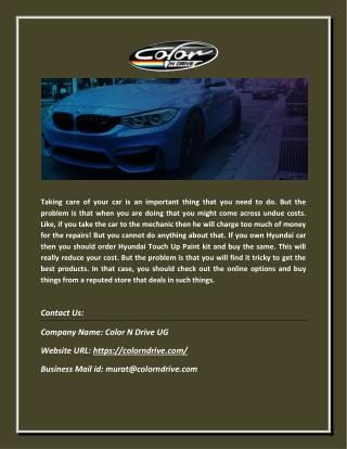 Find High Quality Automotive Touch up Paint for Cars