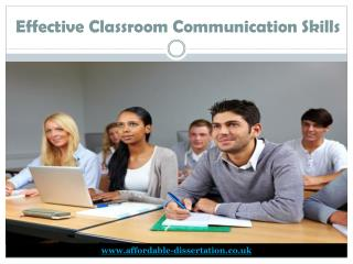 Effective Classroom Communication Skills