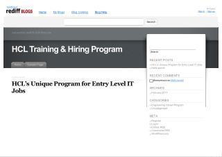 HCL's Unique Program for Entry Level IT Jobs