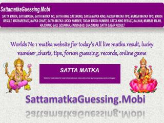 Satta Guessing Online by Satta Matka Guessing