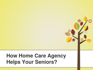 How Home Care Agency Helps Your Seniors?
