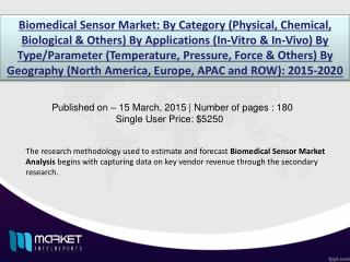 Biomedical Sensor Market: Asia Pacific is the leading region in Healthcare industry through 2020.