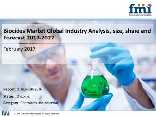 Biocides Market Industry Analysis, Trend and Growth, 2017-2027