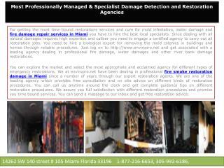 Fire Smoke Restoration Damage