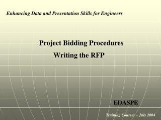 Project Bidding Procedures