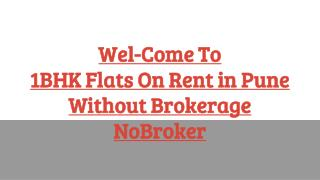 1 BHK Flats on Rent in Pune without Brokerage