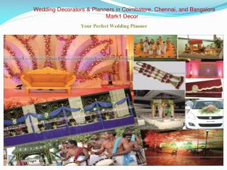Wedding Decorations & Planners in Coimbatore, Chennai and Bangalore - Mark1 Decors