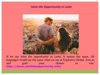 Seize the Opportunity Quotes
