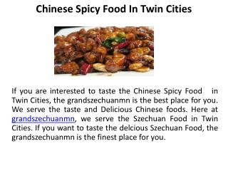 Chinese Spicy Food  in Twin Cities