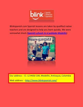 Blink Spanish Medellin | Spanish schools in el poblado Medellin