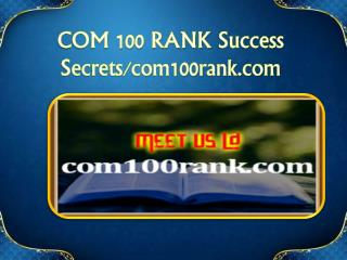 COM 100 RANK Success Secrets/com100rank.com