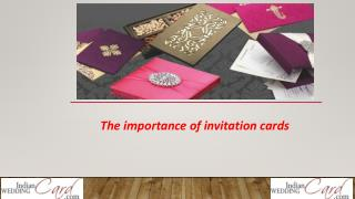 The importance of invitation cards