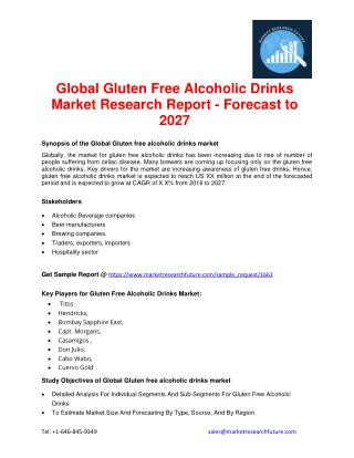 Global Gluten Free Alcoholic Drinks Market Research Report - Forecast to 2027