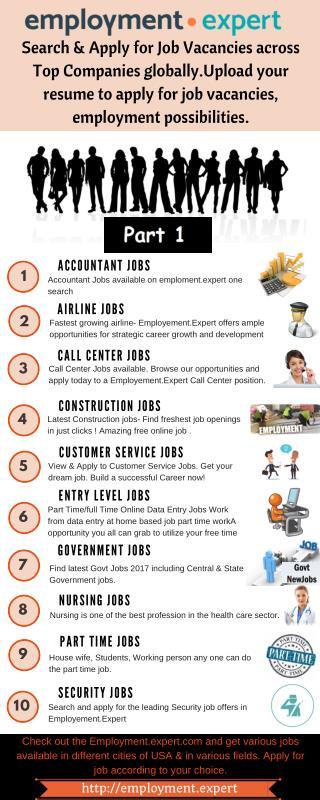 Job Vacancies in USA at Employment.Expert