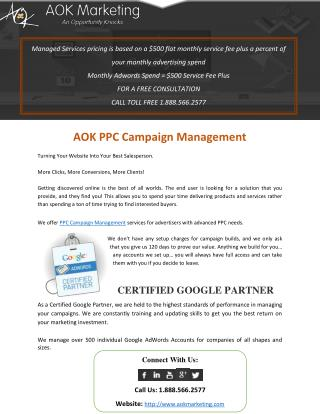 AOK PPC Campaign Management