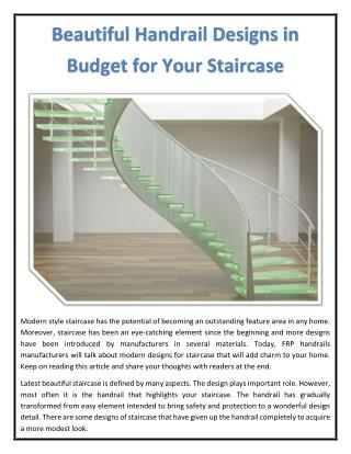 Beautiful Handrail Designs in Budget for Your Staircase