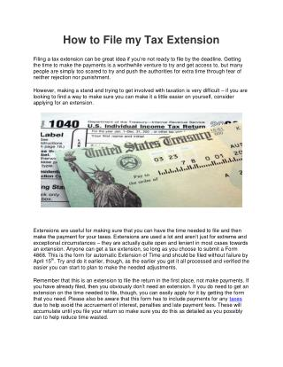 Learn to File Your Tax Extension - Abbo Tax CPA