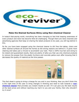 Solid Reasons To Buy Cost-Effective And Chemical-Free Wood Furniture Cleaner