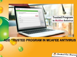 5 Steps to Add a Trusted Program in McAfee Antivirus