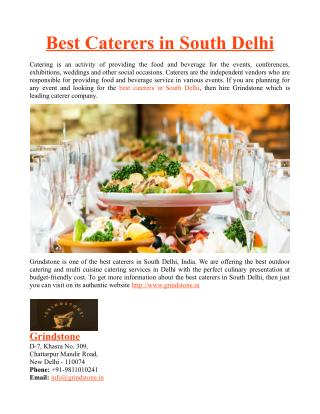 Best Caterers in South Delhi