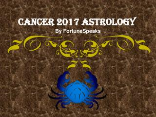 Free Astrology Service 2017 For Cancer Zodiac