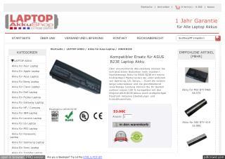 Kompatibler Ersatz für ASUS B23E Laptop Akku