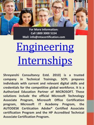 Internship For 1st Year Engineering Students