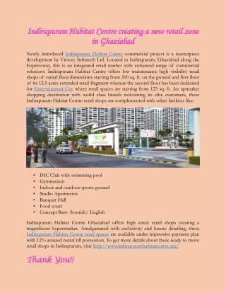 Indirapuram Habitat Centre creating a new retail zone in Ghaziabad