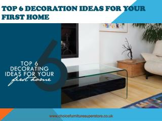 TOP 6 Decoration Ideas for Your First Home