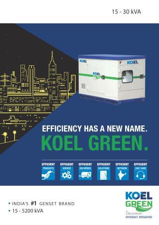 KOEL Green- World's Largest Petrol/Diesel Generator Manufacturing Brand