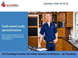 AC Plumbing Provides Hot Water Systems in Brisbane – AC Plumbing
