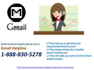 Gmail Helpline  @1-888-830-5278: All day & night assistance