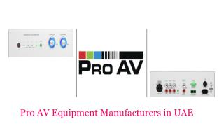 Pro AV Equipment Manufacturers in UAE