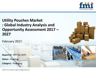 Market Forecast Report on Utility Pouches System 2017-2027