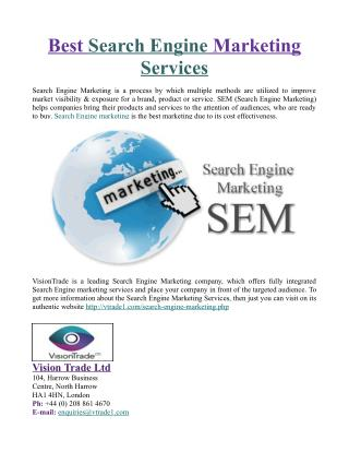Best Search Engine Marketing Services