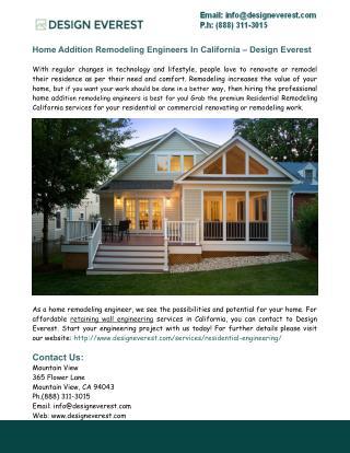 Residential Remodeling California